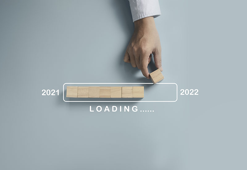 Loading bar almost to year 2022