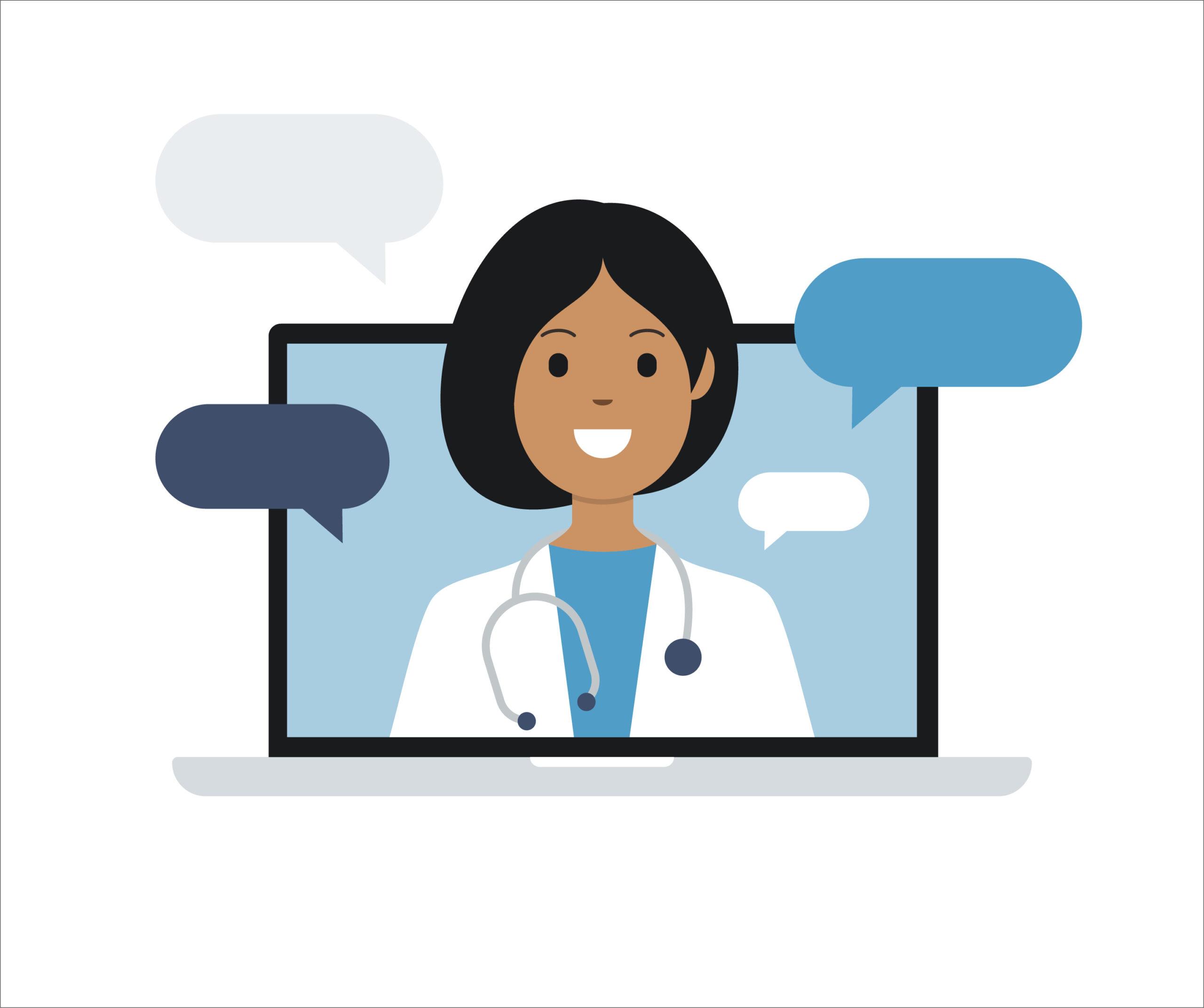 Online physician - RCM marketing ethics concept