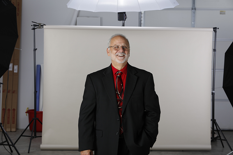 Ron Marshall candid during photoshoot
